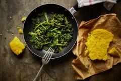 Turnip greens recipe Royalty Free Stock Image