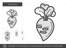 Turnip line icon. Stock Images