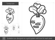 Turnip line icon. Stock Photo