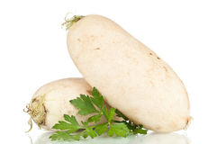 Turnip. Over a white reflective background Stock Photo