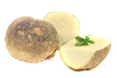 Turnip with parsley Royalty Free Stock Photography