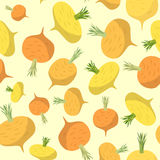 Turnip seamless pattern. Stock Photo