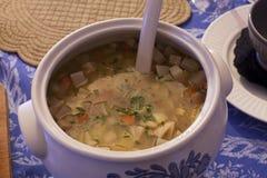 Turnip soup Stock Image
