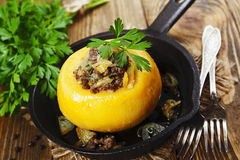 Turnip stuffed with minced meat Stock Images