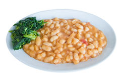 Turnip top and beans.  Royalty Free Stock Photography