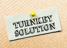 Turnkey Solution Message Royalty Free Stock Image