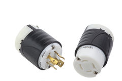Turnlock connector and plug Royalty Free Stock Photography