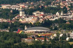 Turnov και κήπος Aquapark Maskova Στοκ φωτογραφίες με δικαίωμα ελεύθερης χρήσης