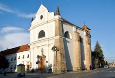 Turnov, Czech republic. Baroque Church of St. Francis of Assisi in Turnov, Northern Bohemia, Czech republic Royalty Free Stock Photos