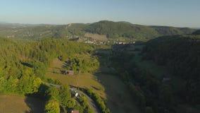 TURNOV, CZECH REPUBLIC - JUNE, 2019: Aerial drone view of a beautiful landscape of National Park Cesky Raj near Prague. TURNOV, CZECH REPUBLIC - JUNE, 2019 stock footage