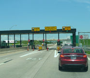 Turnpike toll booth maintained by the Oklahoma Turnpike Authority Royalty Free Stock Images