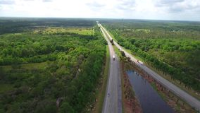 Turnpike video aéreo de Florida video estoque