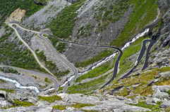Turns of a mountain road Royalty Free Stock Images