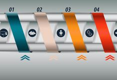 Turns ribbons infographics Royalty Free Stock Photo