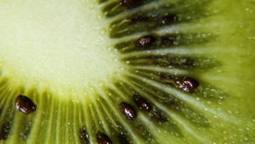 Turns ripe fruit kiwi. Macro stock footage
