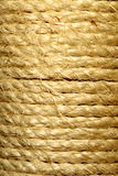 Turns of rope. Several turns of rope around a pole stock photos