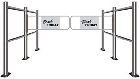 Turnstile Black Friday Stock Photos