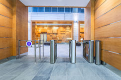 Turnstile in business center Royalty Free Stock Photos