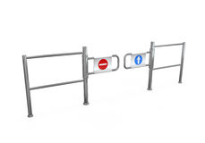 Turnstile Entrance Isolated Stock Photo