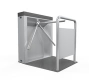 Turnstile Entrance Isolated Royalty Free Stock Photography