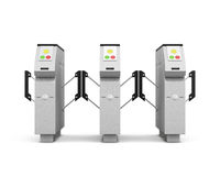 Turnstile front  on white background. 3d rendering Stock Image