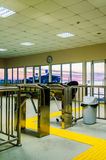 Turnstile Inside Of Ferry Port Royalty Free Stock Images