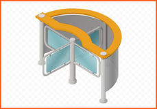 Turnstile isometric perspective view Royalty Free Stock Photos