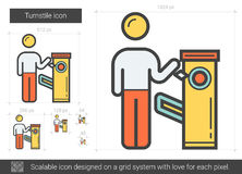 Turnstile line icon. Royalty Free Stock Images