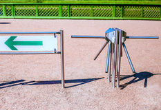 Turnstile outdoors. In sunny day Stock Image