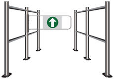 Turnstile in store Stock Photography