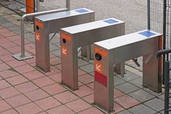 Turnstile. Control access pass gate Royalty Free Stock Photography