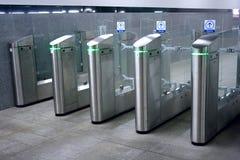 Turnstile van de metro stock foto
