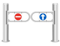 Turnstile vector illustration Stock Image