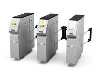 Turnstile  on white background. 3d rendering Royalty Free Stock Photography