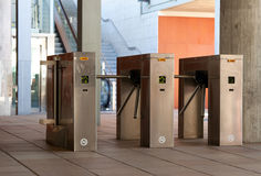 Turnstiles Stock Photography