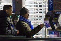 Turnstiles entrance to football stadium Olympic NSC Royalty Free Stock Photography