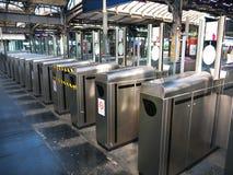Turnstiles Gare de l'Est Paris france Royalty Free Stock Photo
