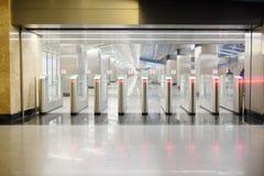 Turnstiles at the metro station  Stock Image