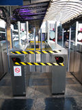 Turnstiles Out of Service Gare Paris-Est France Stock Photo
