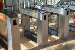 Turnstiles Stock Photo