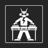 Turntable логотипа Стоковые Фотографии RF