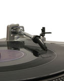 Turntable 02. Turntable over white Royalty Free Stock Image