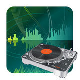Turntable. Vector illustration of a turntable. Music background Stock Images