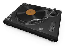 Turntable. With vinyl record. High quality 3D render Stock Image