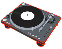turntable Arkivfoto
