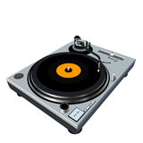 Turntable vector illustration