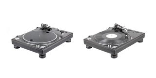 Turntable. Isolated on white background Royalty Free Stock Images