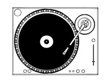 turntable Arkivbilder