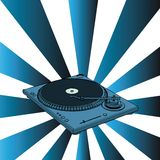 Turntable. With blue retro background - illustration (with vector EPS format Royalty Free Stock Photography
