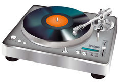 turntable vektor illustrationer